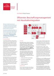 Effizientes Beschaffungsmanagement mit Haushaltsintegration