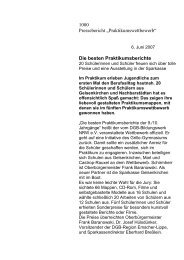 Presseerklärung - Arbeiten + Lernen an Lippe + Emscher
