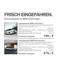 FRISCH EINGEFAHREN. - BMW Niederlassung Mannheim