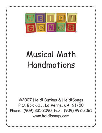 Musical math lyrics heidi songs musical math handmotions heidi songs stopboris