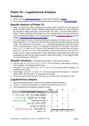 Logotechnical Analysis of Psalm 19 - labuschagne