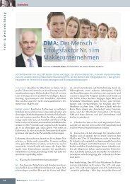 Erfolgsfaktor Nr. 1 im Maklerunternehmen - Deutsche Makler ...