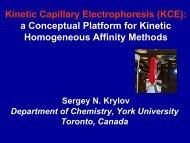 Kinetic Capillary Electrophoresis (KCE) - Analytical Sciences Digital ...
