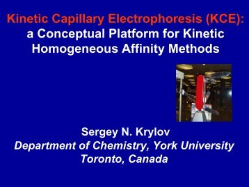 Kinetic Capillary Electrophoresis (KCE) - Analytical Sciences Digital ...