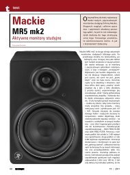 Test monitorów Mackie MR5 mk II - Music Info