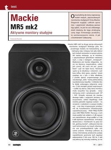 Test monitorów Mackie MR5 mk II - Music Info