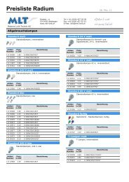 Preisliste Radium - MLT Licht-Technik AG