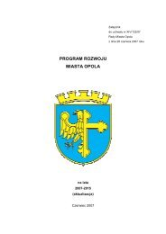 Program rozwoju miasta Opola na lata 2007-2015 - Opole