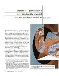 Efectos de la globalización en la distribución espacial de las ...