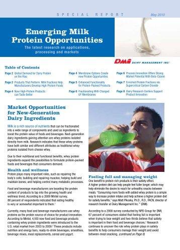 Emerging Milk Protein Opportunities - InnovateWithDairy.com