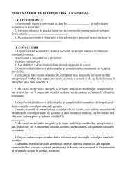 proces verbal de receptie finala