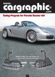 Tuning-Program for Porsche Boxster 987 - Cargraphic