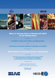 What U.S. Business Gains in Working with the OECD on Tax ...