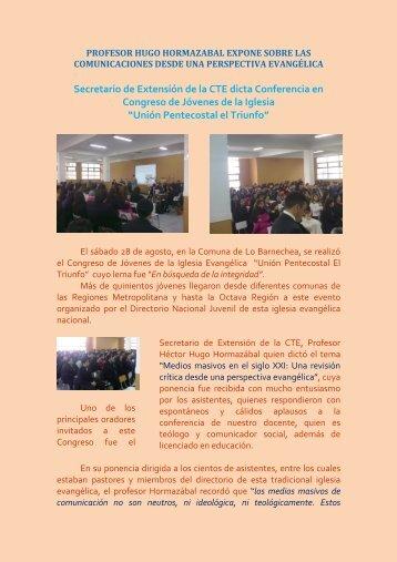 Conferencia de Iglesia CTE Extensión - Comunidad Teológica ...
