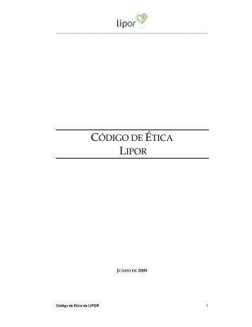 CÓDIGO DE ÉTICA LIPOR