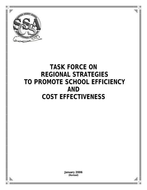 Task Force On Regional Strategies To Promote School Efficiency ...