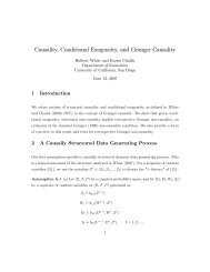 Causality, Conditional Exogeneity, and Granger Causality - CIdE