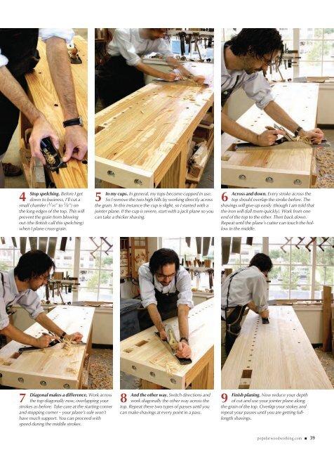 how to flatten a workbench's top.