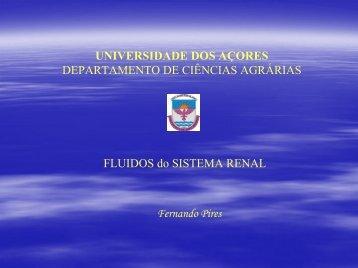Fluídos do sistema renal - Universidade dos Açores