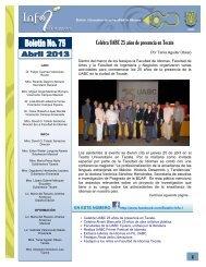 Boletín No. 75 - Facultad de Idiomas Ensenada - Universidad ...