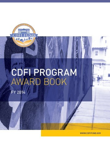 2014 CDFI Program Award Book