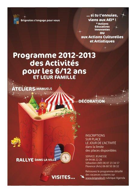 Programme 2012-2013 des Activités pour les 6 ... - Ville de Brignoles