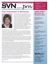 The President's Message - Society for Vascular Nursing
