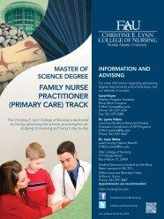 family nurse practitioner - Christine E. Lynn College of Nursing