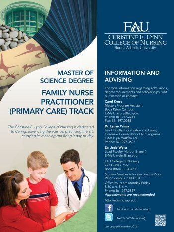 family nurse practitioner - Christine E. Lynn College of Nursing
