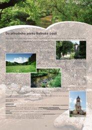 12. Do přírodního parku Balinské údolí - Extranet