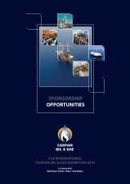 Download the Caspian Oil & Gas Exhibition sponsorship brochure