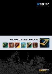 MACHINE CONTROL CATALOGUE - Topcon Positioning
