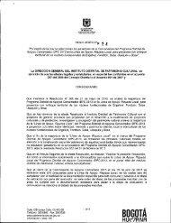 BOGOTÁ - Secretaría de Cultura, Recreación y Deporte