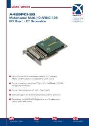 A429PCI-2G Multichannel Multi-I/O ARINC 429 ... - TechSAT GmbH