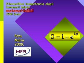 Matematika bemeneti kompetenciamérés 2008