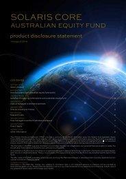 Solaris Core Australian Equity Fund