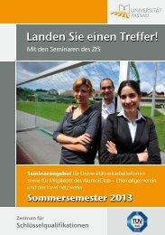 Aktuelles Seminarprogramm für Alumni und Universitätsangehörige