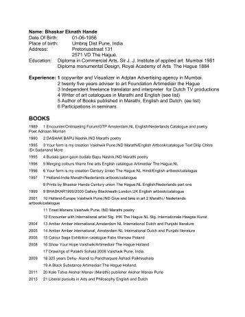 Bhaskar Hande biodata