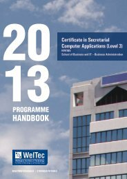 1 programme handbook - Wellington Institute of Technology