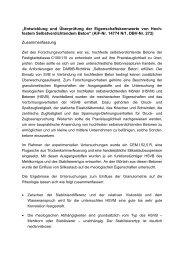 """""""Entwicklung und Überprüfung der Eigenschaftskennwerte ... - IBAC"""