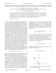 Propensity rule for the magnetic substate distribution in electron ...