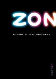 """RELATÃ""""RIO & CONTAS CONSOLIDADAS - Zon"""