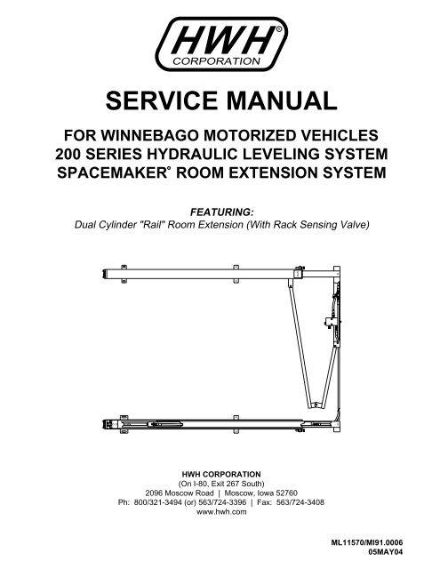 hwh hydraulic leveling jacks manual