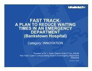 A plan to Reduce Waiting Times in an Emergency ... - ARCHI