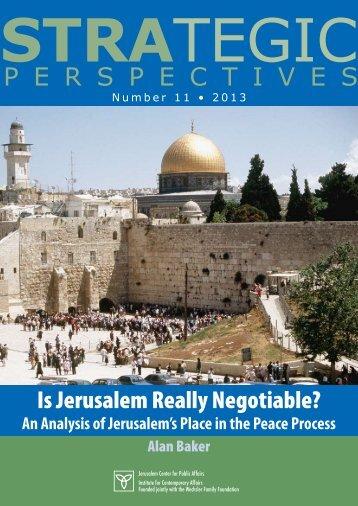 P E R S P E C T I V E S - Jerusalem Center For Public Affairs