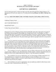 List Rental Agreement Form