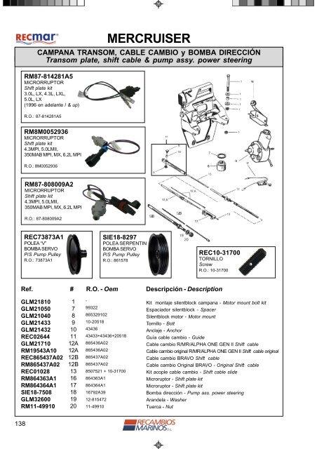 65533A1 Transom Seal for Mercruiser MC1 Alpha One RO