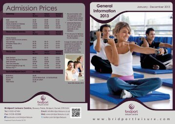 Bridport Leisure Centre General Information 2013