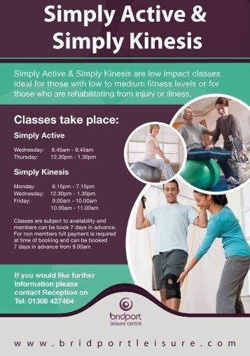 Simply Active & Simply Kinesis - Bridport Leisure