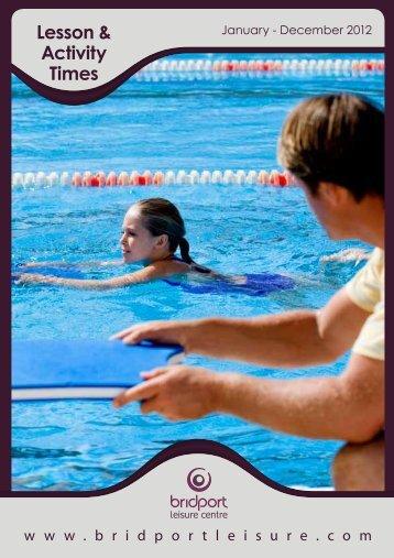 Lesson & Activity Times - Bridport Leisure
